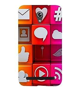 Colourful Internet Signs 3D Hard Polycarbonate Designer Back Case Cover for Asus Zenfone Go ZC500TG (5 Inches)