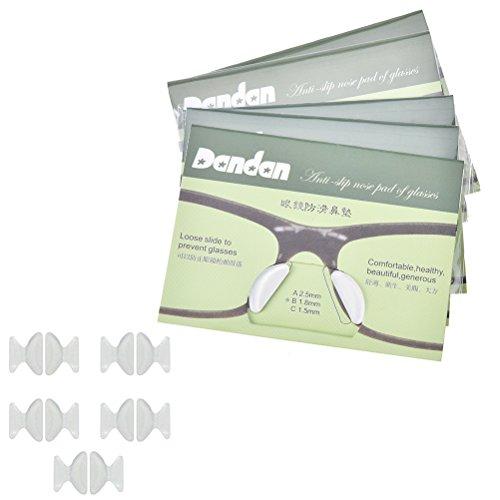 AOWA 10 Paar 1,8 mm Anti-Rutsch-Silikon-Nasenpads Brillen-Sonnenbrillen-Brillen