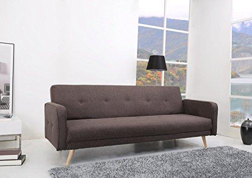 Oslo Schlafsofa Stoff - Fuscous Braun - für die Wohnlandschaft