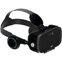 Woxter Neo VR5 - Gafas de realidad virtual 3D para smartphone con auriculares incorporados, color negro