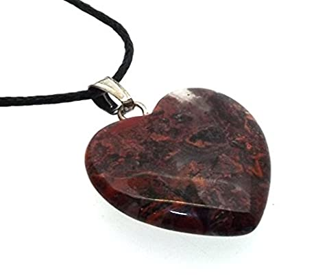 Brecciated Jasper Gemstone Heart Pendant