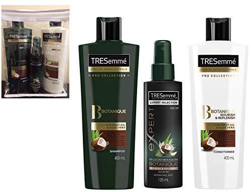 Tresemme Botanique Geschenk Set Nähren & Auffüllen Shampoo + Haarspülung 400ml Jeweils + Feuchtigkeitsspendend Nebel Spray 125ml - ohne Farbstoffe - ohne Silikone -