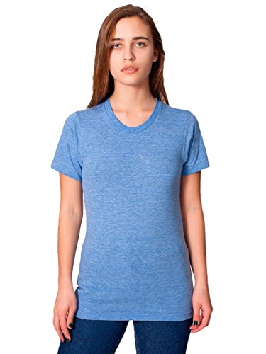 American Apparel Unisex Tri-Blend Short Sleeve Track Shirt - Athletic Blue / L (American Apparel-track Shirt)