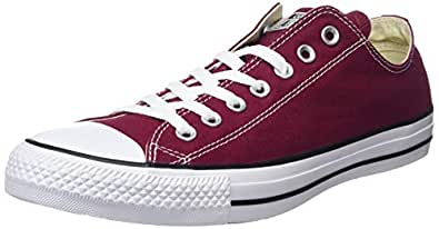 Converse Chuck Taylor All Star, Sneakers Unisex - Adulto, Rosso (Bordeaux), 35 EU