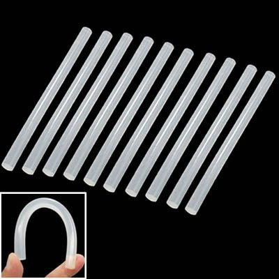 Sstone Gute 10x praktische transparente weiße Hot Melt Klebestift, Größe: 270 x 11 mm (10 Stück in Einer Verpackung, der Preis Gilt for 10 Stück)