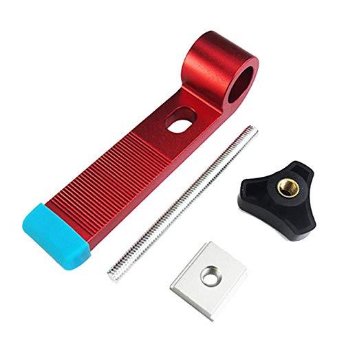 Aluminiumlegierung Universal Spannblöcke Platte Gehrungsspur Spannblöcke M8 Schraube Holzbearbeitung Joint Handwerkzeuge Set (Rot) DEjasnyfall