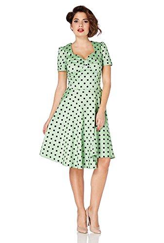 Voodoo Vixen Kleid HANNA DRESS 2498 Grün XL -