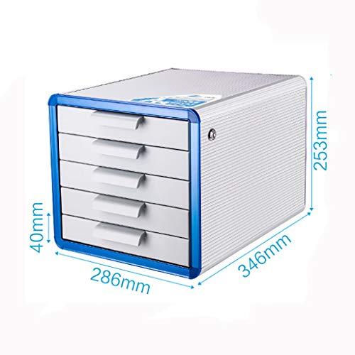 FPigSHS Aktenschränke Schränke Aktenschränke mit Schlössern und Schubladen Dokumentenablage Büro-Datenspeicher A4-Ordner Aluminiumlegierung 5 Schubladen (Aktenschränke Mit 4 Schubladen Holz)