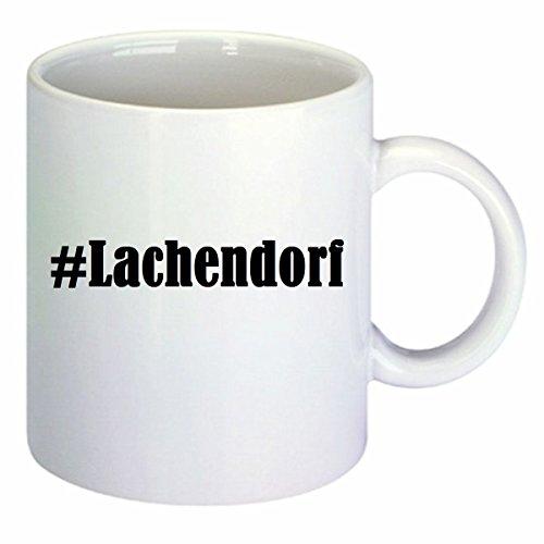 Kaffeetasse #Lachendorf Hashtag Raute Keramik Höhe 9,5cm ? 8cm in Weiß