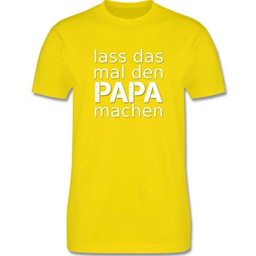 Vatertag - Lass das mal den Papa machen - Herren Premium T-Shirt Lemon Gelb