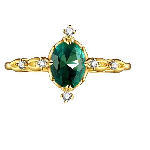 Frauen Weinlese schöner weißer Diamant Silber Verlobungs Ehering Ring YunYoud verlobungsring ehering siegelring goldringe modische siegelringedamenschmuck perlenringe