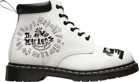 Dr.Martens Womens 939 Leather Boots Weiß