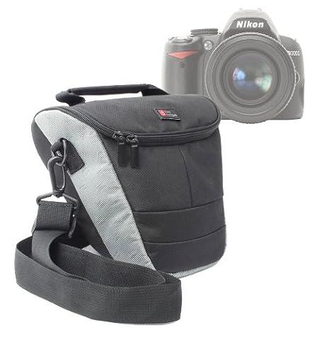 Etui housse de rangement pour Nikon Coolpix P610 et L840, Canon PowerShot SX410 IS et Pentax XG-1 appareils photo Bridge et leurs accessoires - lanière de transport