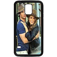 Barato Funda para Samsung Galaxy S5i9600, Ian Somerhalder móvil, DIY teléfono celular Funda con tapa, protector de pantalla Star.