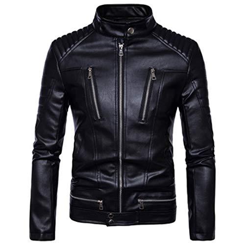 SAFETNG Motorrad Jacke Winter Motorrad Kleidung Beschützer Wasserdichte Moto Racing PU Leder Motorjacke Black XXXXL (Moto-leder-jacke)