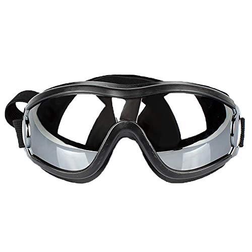 Hundebrille, Hundesonnenbrille für mittelgroße Hunde, Brille Welpenbrillen Winddichter UV-Schutz, Tierarzt Empfohlener Augenschutz von (Schwarz)