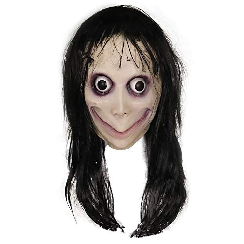 VAWAA Heißes Spiel Momo Sterna Mädchen Cosplay Requisiten Masken Kinder Erwachsene Horror Angst Geist Helm Latex Maske Fancy Ball Halloween Party Neu