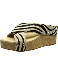 Tantra Leather Espadrille Wedge Sandals Animal Print - Sandalias para mujer