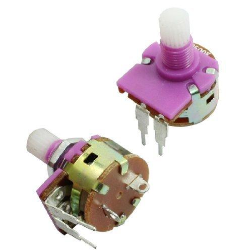 2ST B500K 500K ohm 6mm Rändelwelle Dia Drehpotentiometer Pot B500k Potentiometer