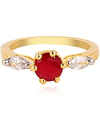 R S Jewels Simulated Ruby Gemstone Anniversary Ring For Womens