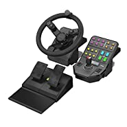 Steering wheen and pedals PC Black Gamin controller, USB
