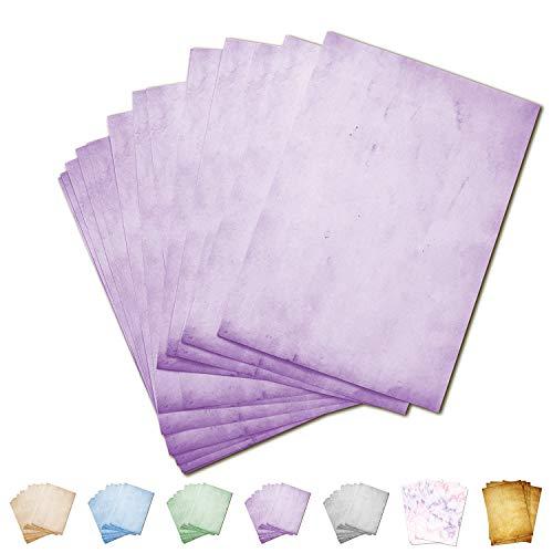 Partycards Papel de Escribir | 50 Hojas |Rosa|Formato DIN A4 (21,0 x 29,7 cm)|Gramaje 90 g/m² |impresión a Doble Cara, Adecuada para Todas Las impresoras