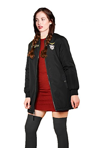 Womens Brave Soul Westbadge Designer Bomber Jacket Ladies Long Length Harrington Coat