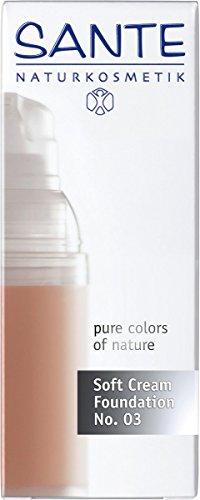 SANTE Naturkosmetik Soft Cream Foundation No. 03 sunny beige, Samtig, ebenmäßiger Teint, Mit Mineralpigmenten, Cremige Textur, Vegan, 30ml - 2