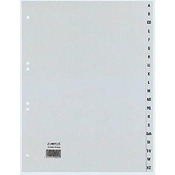 1 St/ück grau 6520-10 10 Durable Ordnerregister DIN A4 A-Z