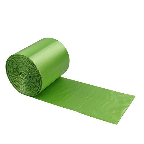 Qshape 100 Sacchi per la Spazzatura immondizia, Verde, 50 - 60 Litri