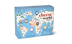 Cheese of The World Making Kit - Thermometer Included - Make Your own Mozzarella, Halloumi, Burrata, Paneer, Queso Blanco, Ricotta, Mascarpone, Cheese Curds, Chevre and Cottage Cheese