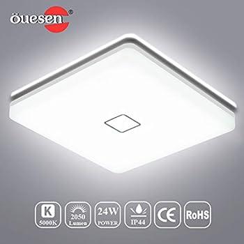 Plafonnier Lumens Led Lumière Lampe Plafond 2050 De 4000k 24w Eisfeu If7gvb6Yy