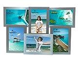benerini 6 Foto - 4 x 6 Pollici in Alluminio Spazzolato Satinato Argento Colore Multi Apertura portafoto Regalo - scatta 6 Foto di 4 x 6 Pollici (10 x 15 cm)