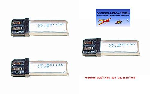 3x 120mAh Premium Lipo Akku Pack Nano-Tech - 1S 3,7V 25-35C für Robbe Align T-Rex 100 uvm. Premiumqualität aus Deutschland von Modellbau Eibl ®
