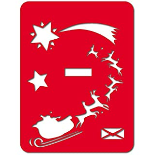 Alubox 08miaplslittaro Front for Interchangeable Letterbox My with Sleigh with Reindeer Design, Red