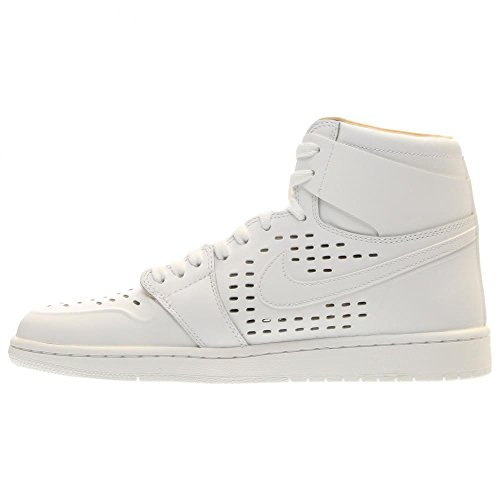 Jordan Air Jordan 1 Retro High Cuir Baskets White-White-Vachetta Tan