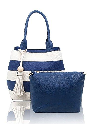 FoxLady - Sacchetto donna Blue / White