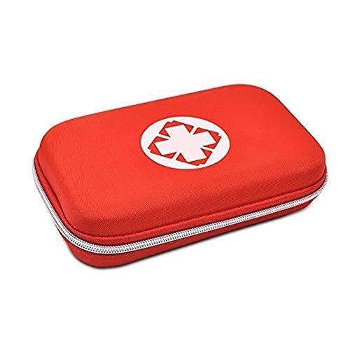 QIANG-w Erste-Hilfe-Set Hartschalen-Medizintasche Erste-Hilfe-Set Notfall-Medizintasche Compact Family Notfall-Kit Reise & Arbeitsplatz (Color : Red)