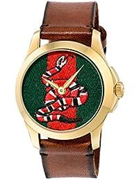 Gucci Unisex-Armbanduhr Quarz Leder YA1264012