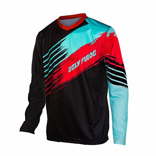 Uglyfrog 2017 V-collar Lange Ärmel Jersey Frühlingsart Motocross Mountain Bike Downhill Shirt Herren Sportbekleidung - Jersey Brasilien, Lange ärmel