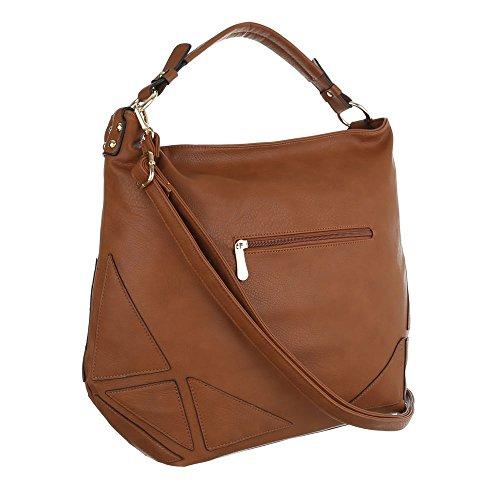 Ital-Design, Borsa tote donna marrone