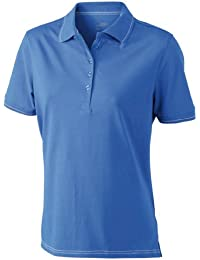 James & Nicholson Funktionspolo Elastic - Polo Mujer, Azul (royal/white), XX-Large (Talla del fabricante: XX-Large)