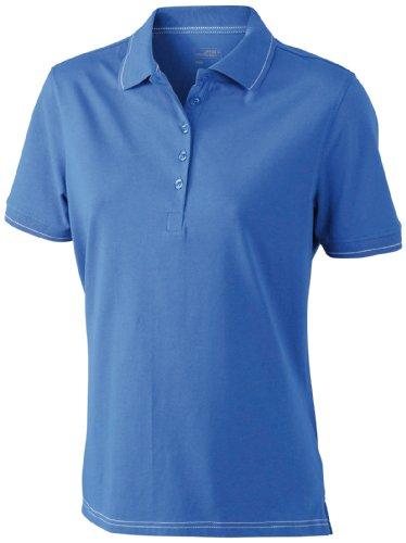 James & Nicholson - Polo elasticizzata da donna Blu (royal/white)