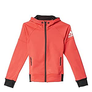 adidas AK2684 Sweat-shirt Fille Rouge/Noir FR : 13 ans (Taille Fabricant : 164)