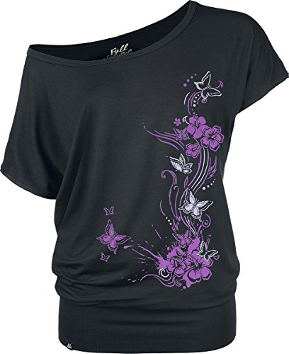 Full Volume by EMP Butterflies Maglia donna nero XS