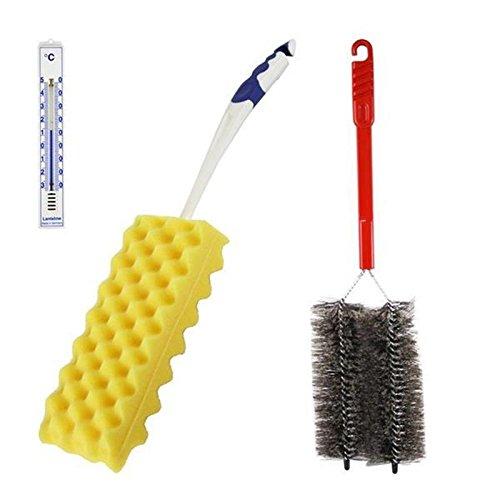 Heizkörper Reinigungsset mit Bürste und Reiniger und Thermometer Analog