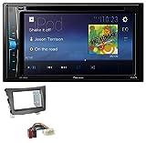 caraudio24 Pioneer AVH-A100DVD AUX USB 2DIN MP3 DVD CD Autoradio für SSang Young Tivoli ab 2015 anthrazit