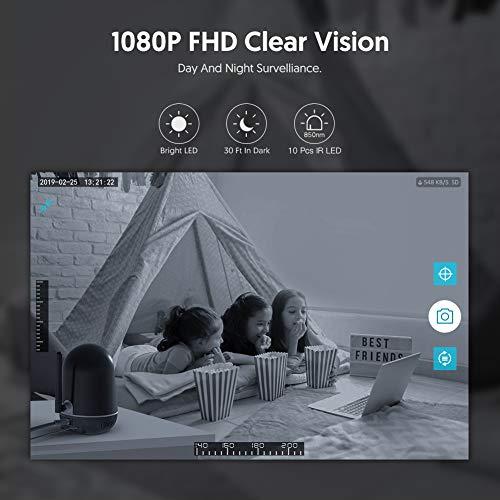 Victure Dualband 2,4Ghz und 5Ghz Baby Kamera 1080P Überwachungskamera WLAN, FHD Babyphone mit Bewegungsmelder, Pan Tilt, 2-Wege-Audio, IR Nachtsicht