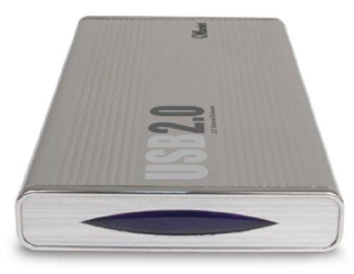 "Hamlet HXD2CCUU USB 2.0 Station 2.5"" External Hard Disk Enclosure 2.5"" Plata - Disco duro en red (2.5"", IDE/ATA, USB 2.0, Plata, Aluminio, 79 x 142 x"
