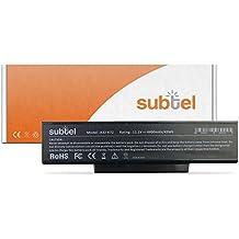 subtel® baterias portatiles para Asus A72 / A73 / K72 / K73 / N71 / N73 / PRo7A / Pro7B / Pro7C / Pro78 (4400mAh) A32-K72 / A32-N71